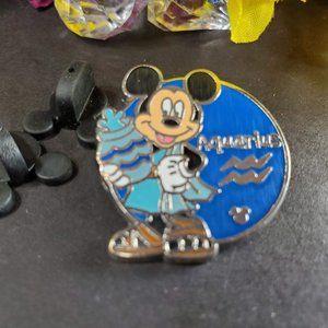 4/$25 Disney Hidden Mickey Aquarius Mickey Pin